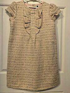 JANIE & JACK pink/gold tweed sheath dress youth girl's sz 10 NWT