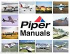 Piper PA-28 cherokee 180 SERVICE MANUAL &  PARTS MANUAL & ENGINE -8- Manuals CD