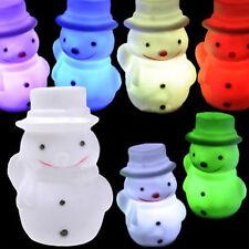 Mehrfarbig Wechselnd Nachtlicht Schneemann Modell LED-Lampe Weihnachtsgeschenk