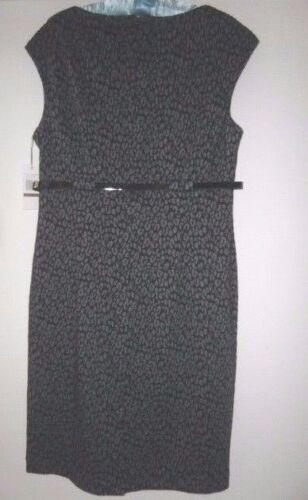 Nero Us12 grigio Dress Work Pencil Cocktail cintura Bnwt con Wiggle Calvin e Klein YW6PqU4