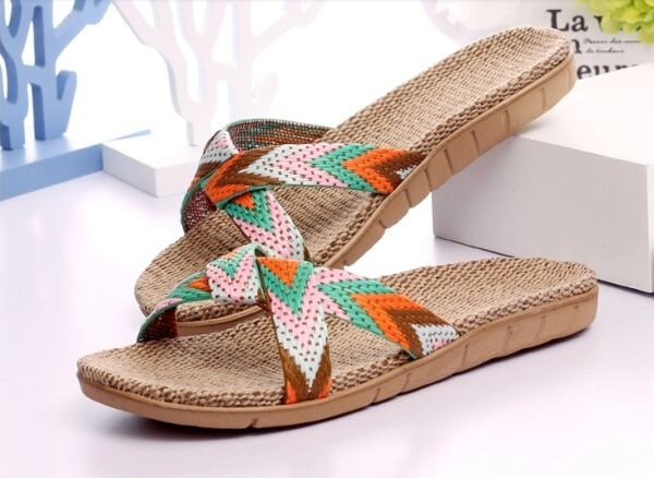 Natural Comfortable Flax Jute Sandals (US6) Slippers  - wemen (US6) Sandals f71ebb