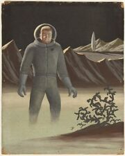 Astronaut Painting - Possibly a very old Pulp Cover - art by Unknown Artist