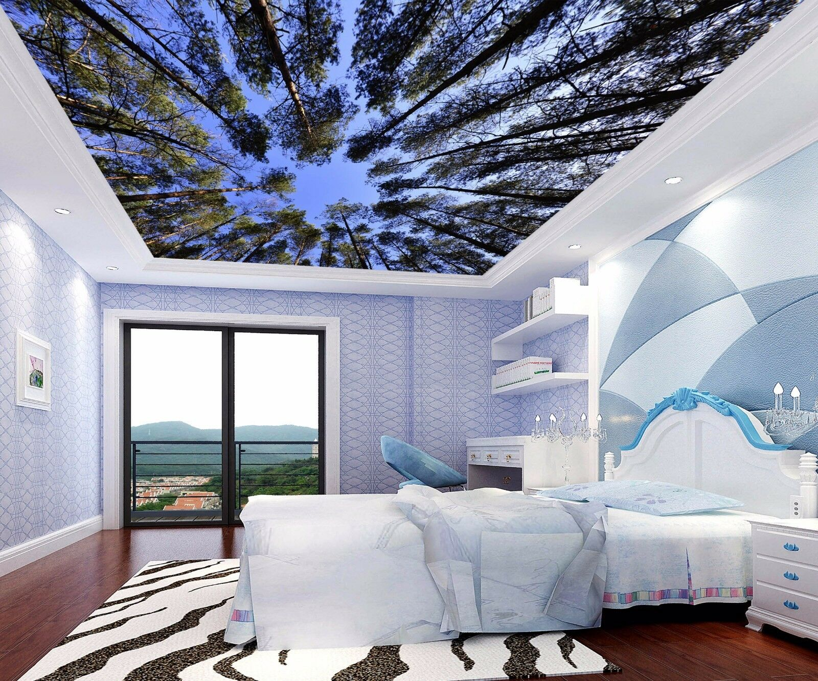 3D Cute Grove 744 Ceiling WallPaper Murals Wall Print Decal Deco AJ WALLPAPER