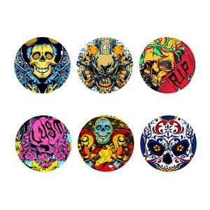 Cool Skull Design Round Coasters Set Drink Beer Cup Mat