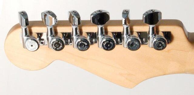 Hipshot® Chrome 6 Inline Staggered Enclosed Grip-lock Tuners~UMP Kit~Brand New