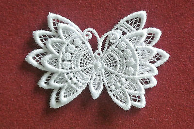 Butterfly - sew-on lace motif/applique/patch/craft/card making