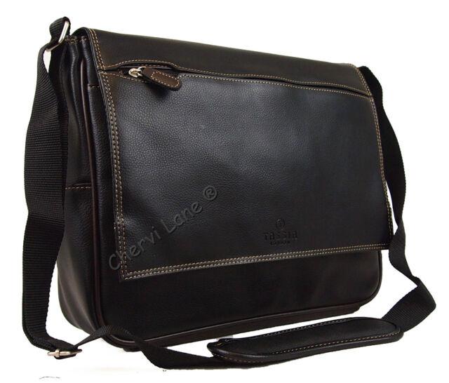 New Black Messenger Satchel Briefcase Laptop Work College School Shoulder Bag