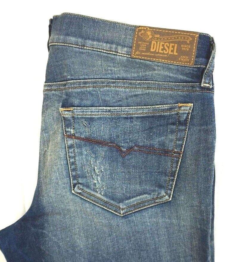 NWT DIESEL Women's Med Wash 0809B Grupee-Ankle Super Slim Denim Jeans 31 x 32
