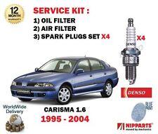 FOR MITSUBISHI CARISMA 1.6 4G92 1995-2004 OIL AIR FILTER KIT + SPARK PLUG SET
