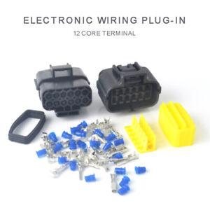 12polig-Steckverbinder-Auto-Elektrischer-Steckverbindung-Stecker-Wasserdicht-Set