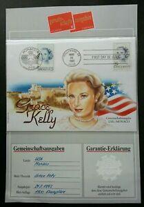 [SJ] USA Monaco Joint Issue Princess Grace Kelly 1993 (FDC) *guarantee *see scan