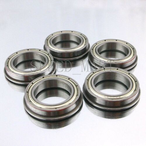 5 PCS F6801zz Metal Double Shielded  Flanged  Ball Bearings (12mm*21mm*5mm)