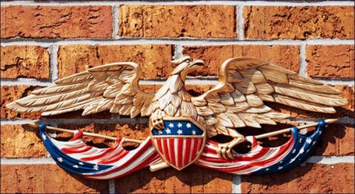 "Whitehall Wall Eagle 24/"" USA Patriotic Colors Patriotic Wall Art Indoor-Outdoor"