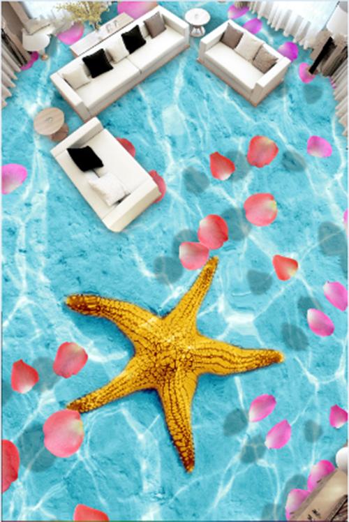 3D Starfish petal 3546 Floor WallPaper Murals Wall Print Decal 5D AJ WALLPAPER