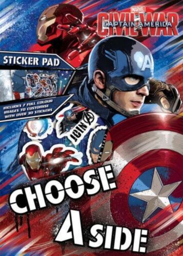 Disney Personnage Captain america guerre civile A4 Sticker Pad Kids Fun Activity Book