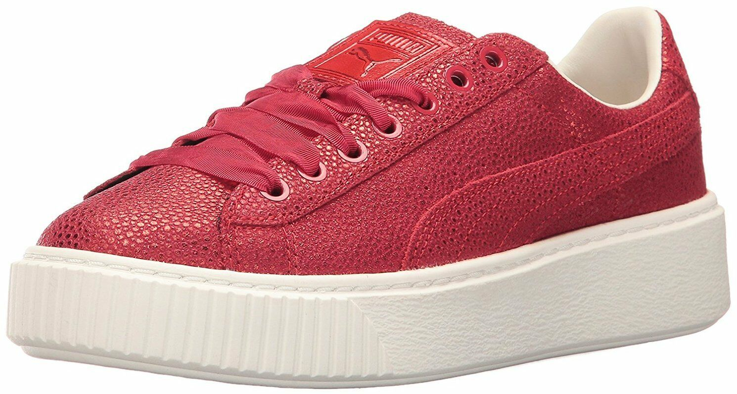 PUMA Women's Platform Lux Wn Sneaker Color Toreador Red Size US 8