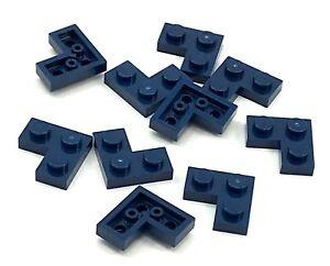 Lego 10 New Dark Blue Plates 2 x 2 Corner Pieces