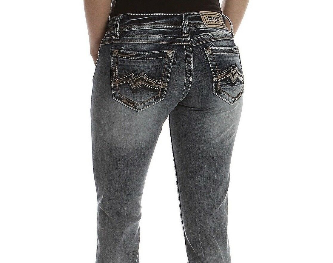 MISS ME RELAXED SPICY M BOOT CUT JEANS XD1121B NWT