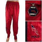 Polo Sport Ralph Lauren Mens Large Pants Windbreaker Rain Red Vintage 90s Rare