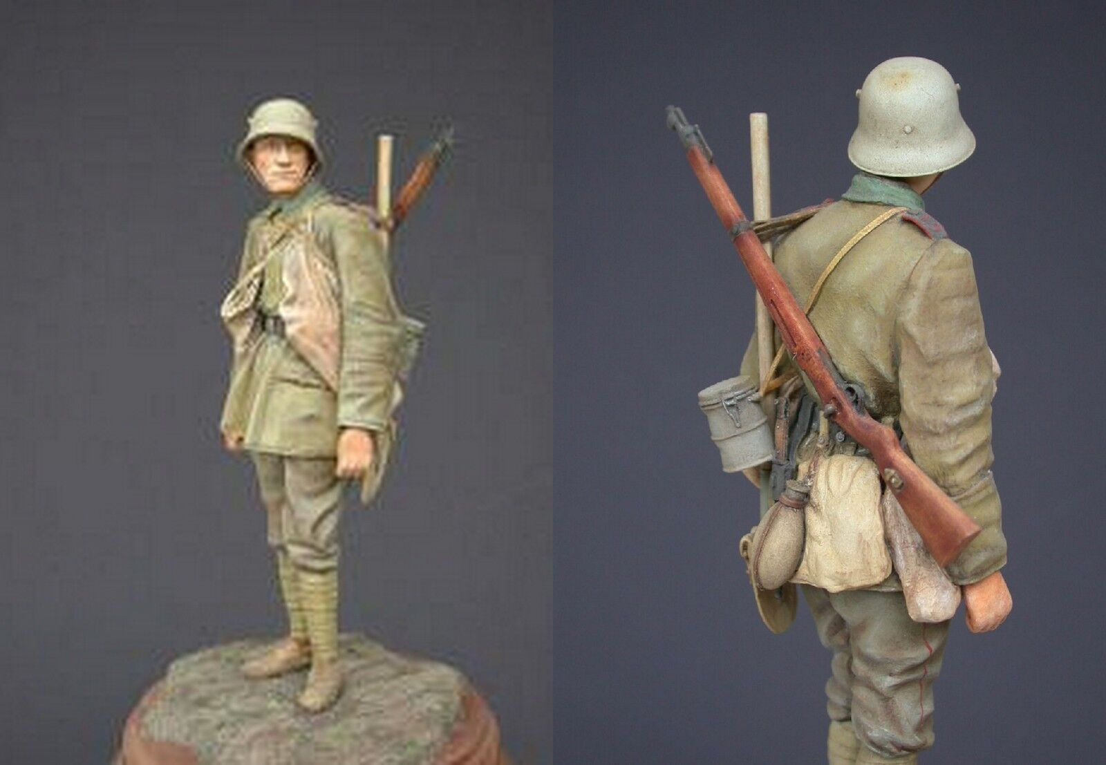 Jon Smith Stormtrooper German Army Western Front WW1 120mm 1 16th Unpainted kit