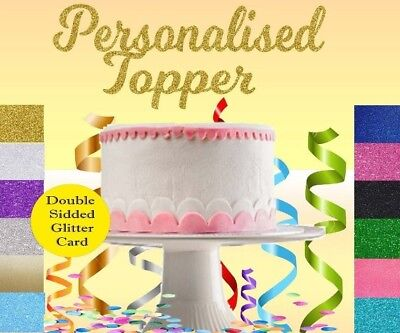 Personalised Cake Topper Birthday Party Décoration Tout Nom Mot