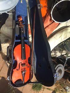 Orchestral Symbol Of The Brand Skylark Brown Mv008 1/2 Size Violin Beginner Instrument Wooden Carry Case Bow