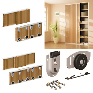 Ares Sliding Wardrobe Door Gear Track Kit Diy Bottom Roll Roller