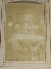 05C66 ANCIEN ALBUM PHOTO FAMILLE PHOTOGRAPHIE 1910 BISTROT BUVEURS ABSINTHE CAFE