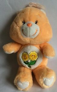 FRIEND BEAR – CARE BEARS – SOFT PLUSH PEACH BEAR - 2002