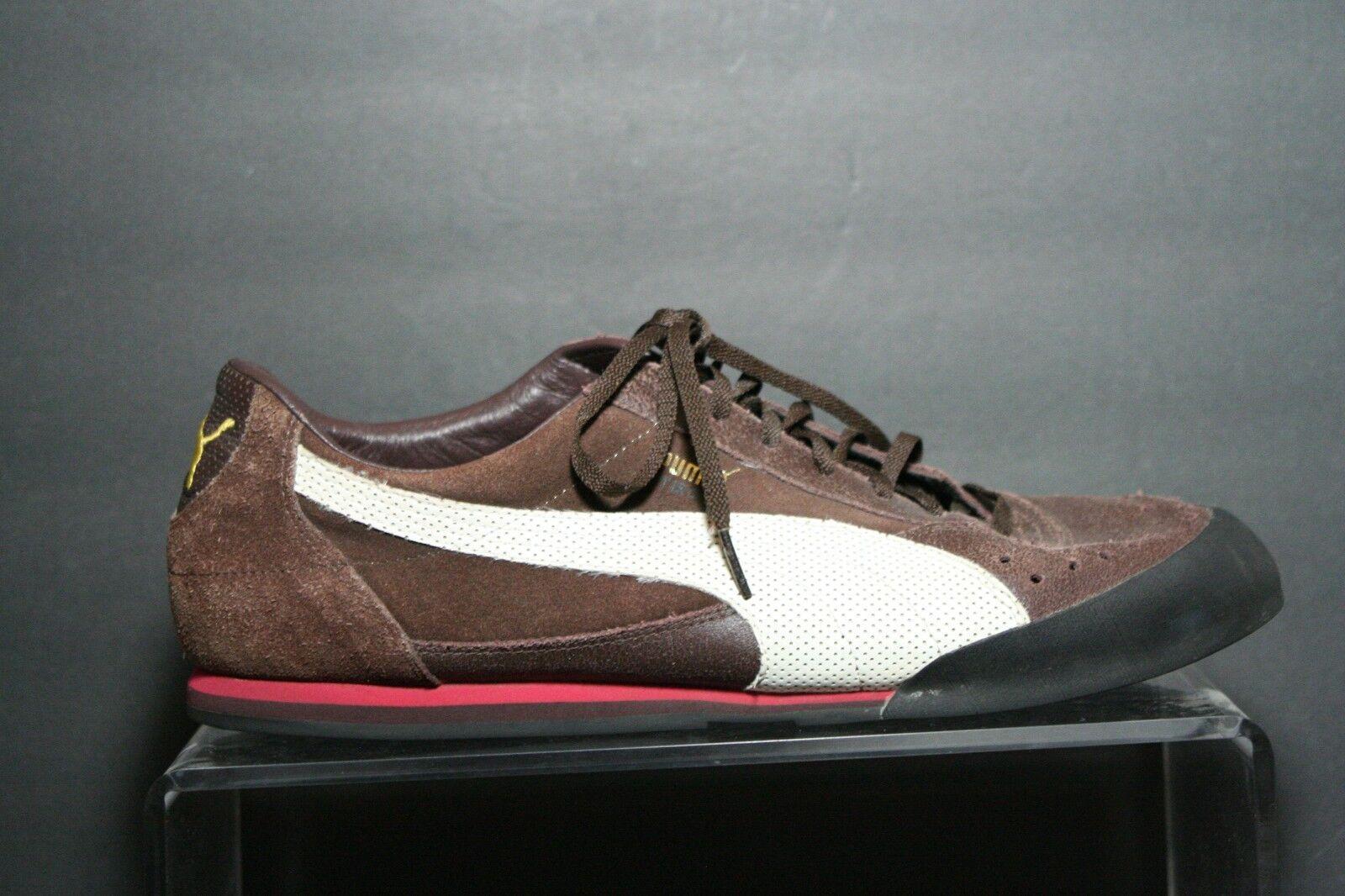 Puma Tiro II Low Retro Running Soccer Men 13 Multi Brown Athletic Suede Leather