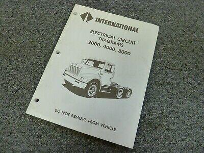 1996 International 4600 4700 4800 4900 Truck Electrical Wiring Diagrams Manual Ebay