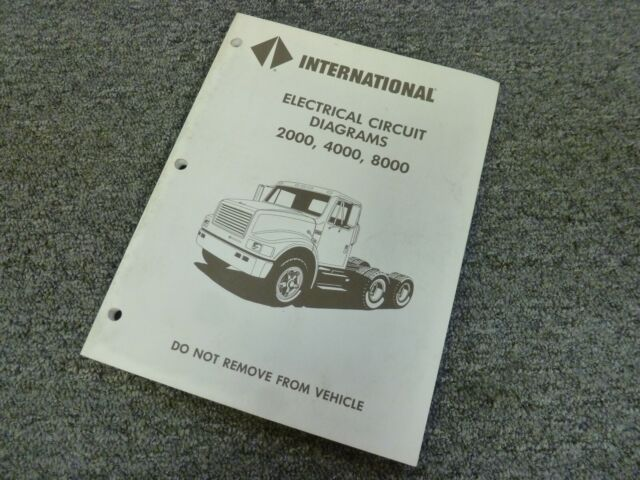 1996 International 4600 4700 4800 4900 Truck Electrical ...