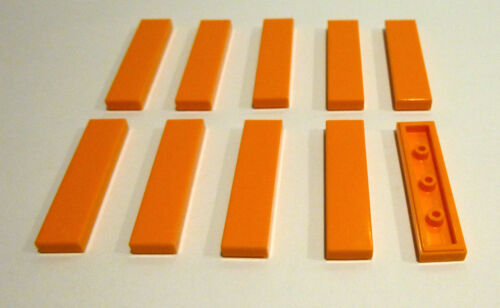 Fliesen,Kacheln in 1x4  orange Neuware. 10 x LEGO® 2431System