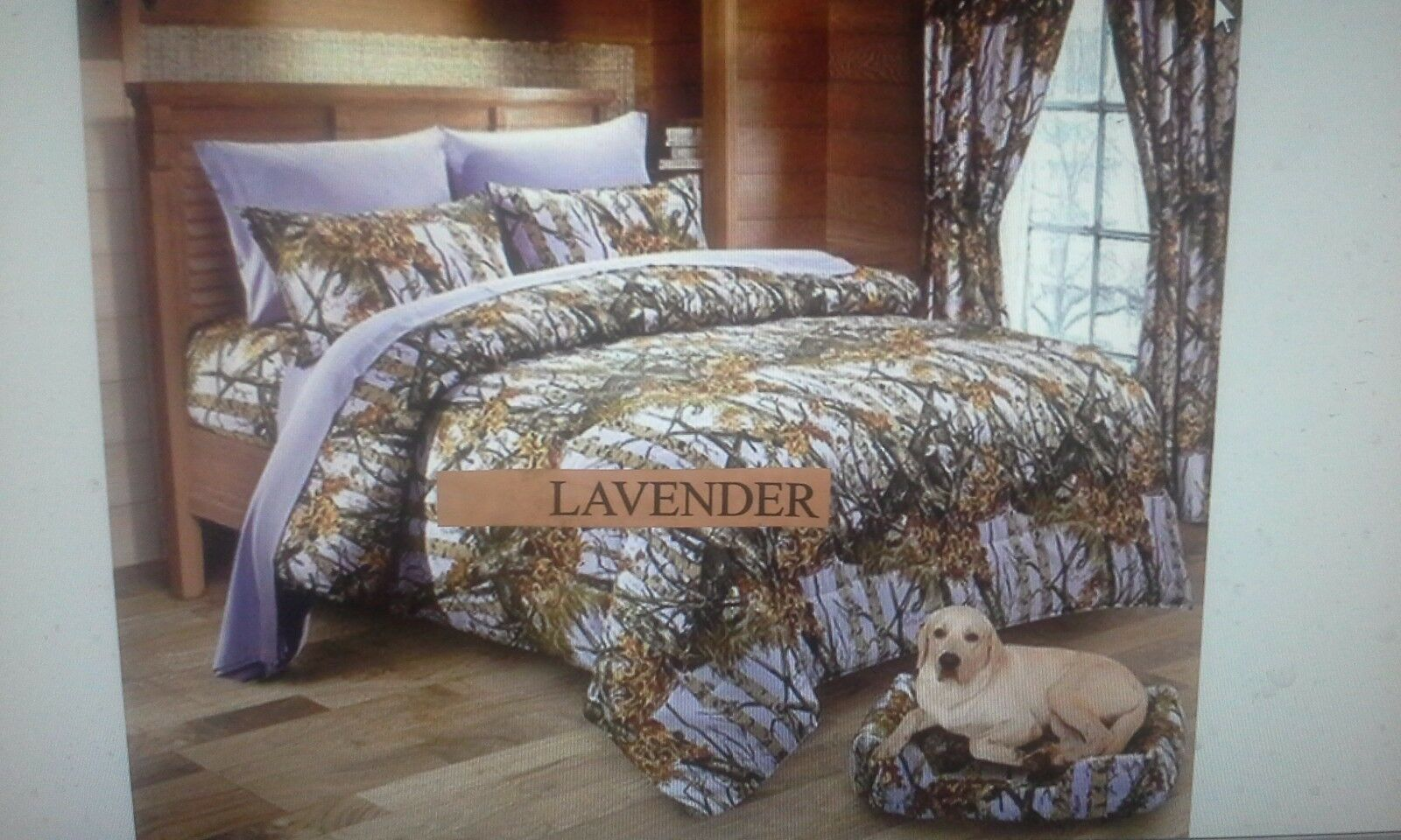 4 PIECE    TWIN    LAVENDER    THE WOODS COMFORTER SET
