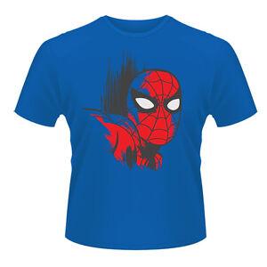 T-shirt-HOMME-BLEU-MARVEL-COMICS-SPIDERMAN-Taille-S-XXL-2XL-superman-hulk