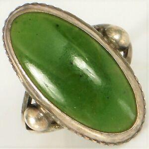 Jade Ring Alternative Wedding Ring Green Jade Ring Pyramid Ring Handmade Antique Ring Silver Jade Ring Vintage Silver Ring