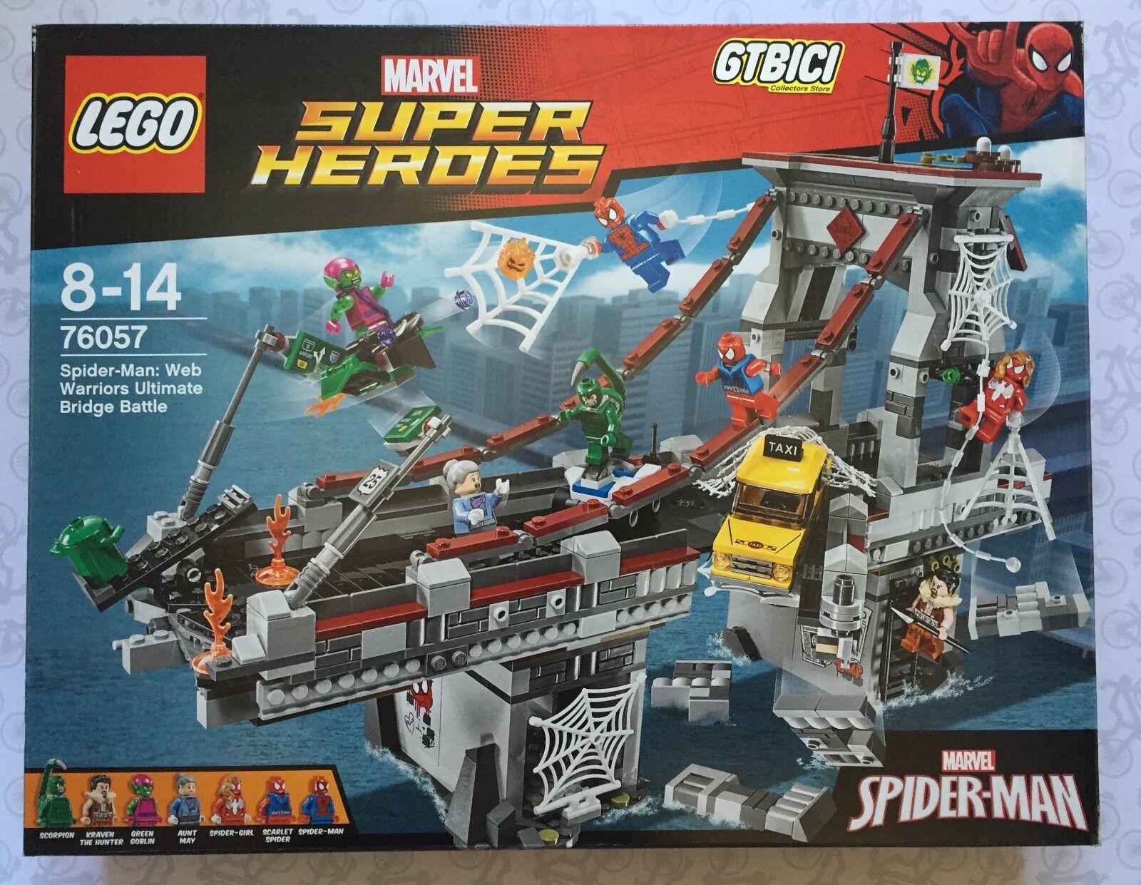 LEGO SUPER HEROES MARVEL SPIDER-MAN  WARRIORS ULTIMATE BRIDGE BATTLE  Ref 76057