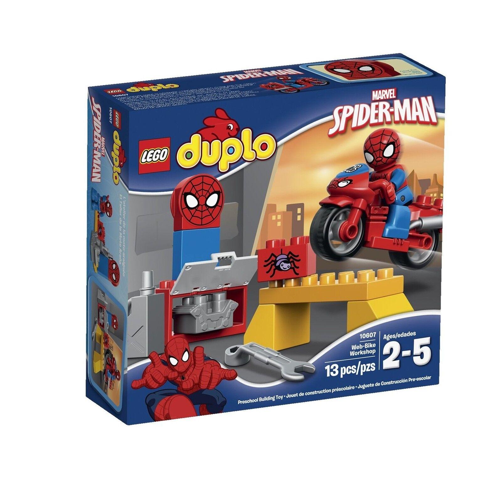 LEGO DUPLO 10607 Super Heroes Marvel Spider-Man Web-Bike Workshop Workshop Workshop Free Shipping 8394cf