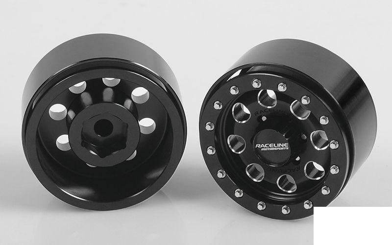 RC4WD Raceline Havoc 1.55   Beadlock Wheels Z-W0205 negro 8 Trou TF2 G2 Roue