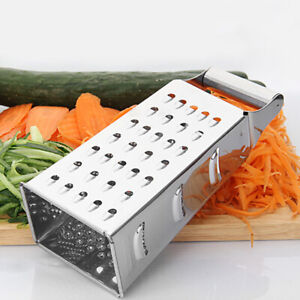 Kitchen-Stainless-Steel-4-Sided-Box-Food-Grater-Vegetable-Cheese-Slicer-Shredder