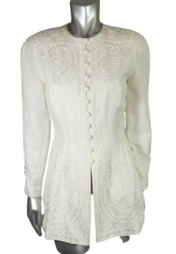Vintage Marie St. Claire 6 Jacket Blazer White Lon