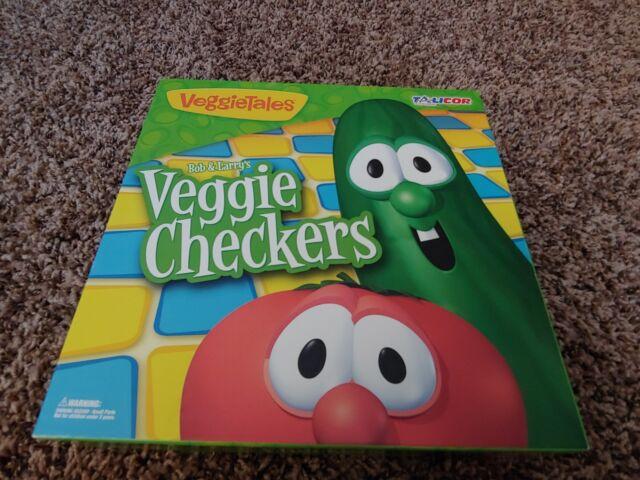 Sensational Talicor 7600 Veggietales Veggie Checkers Board Game For Sale Personalised Birthday Cards Veneteletsinfo