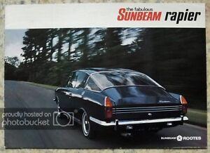 SUNBEAM RAPIER H120 Car Sales Brochure 1968-69 #5534H