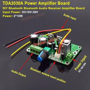 TDA2030A 15W+15W Stereo Audio Power Amplifier Board AMP DIY Wireless Bluetooth