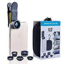 Smartphone Camera Lens Kit 5 in 1 0.63x 15x 2x Macro Android IOS iPhone Samsung