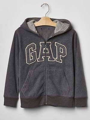 NEW GAP GRAY PRO FLEECE LOGO HOODIE SIZE XS 4/5 S 6/7 M 8 L 10