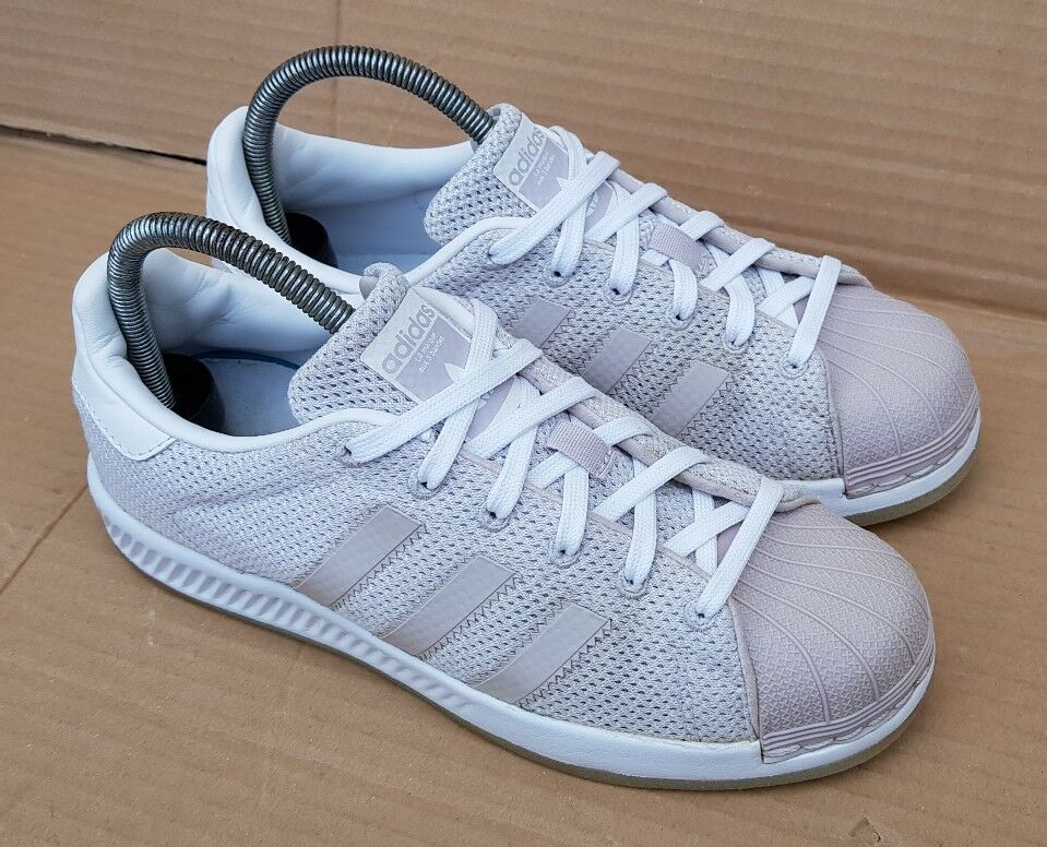 ADIDAS Gris SUPERSTAR BOUNCE blanc AND ICE Gris ADIDAS TRAINERS Taille 4RARELY BEEN WORN 773035