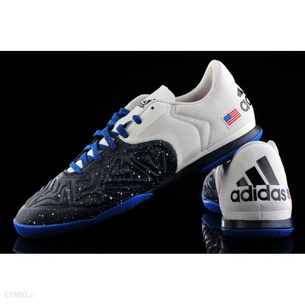 Adidas Men Soccer X15.2 USA Edition Court shoes Collegiate Navy White Vivid Red