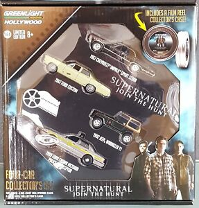GreenLight-2016-Hollywood-Film-reels-serie-5-supernatural-4-car-Collectors-set