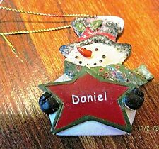 "Mistletoe Mountain Holiday Collection Christmas Tree Ornament Snowman ""DANIEL"""